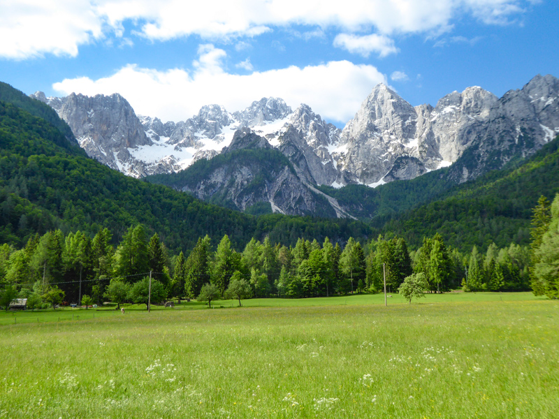Julian Alps at Kranjska Gora in Slovenia