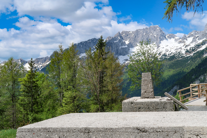 Military artifacts Supca Viewpoint Slovenia