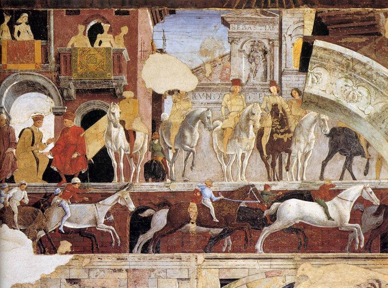 Part of the April Fresco Palazzo Schifanoia Ferrara Italy