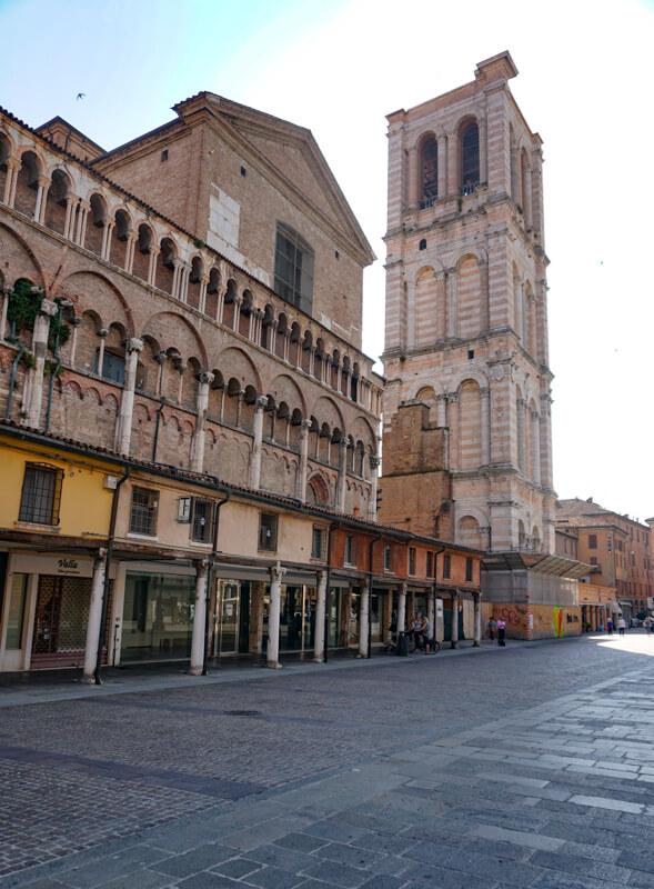Piazza Trento e Trieste in Ferrara Italy