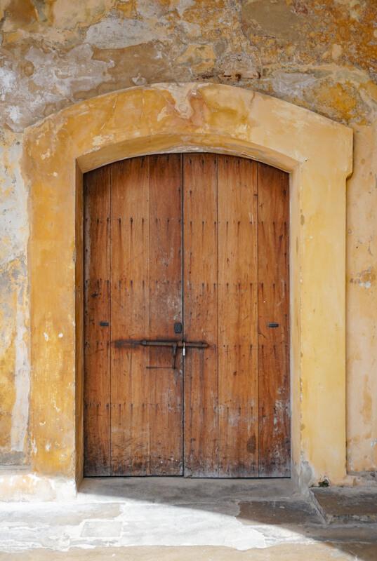 Pretty Door Castillo San Cristobal San Juan Puerto Rico