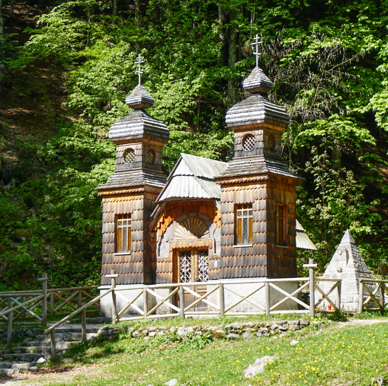 Russian Chapel Vrsic Pass Road Slovenia