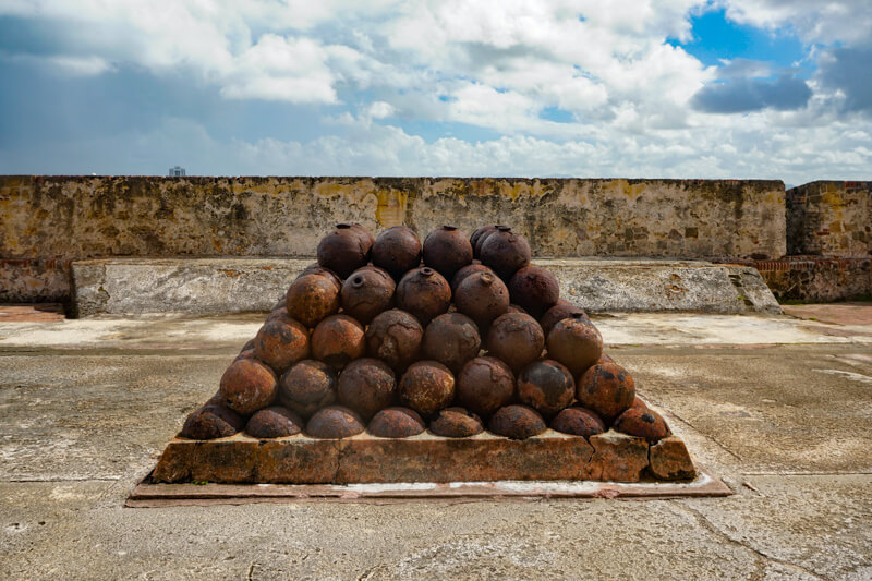 Stack of Cannonballs Castillo San Cristobal San Juan