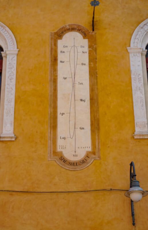 Sundial Calendar Ferrara Italy