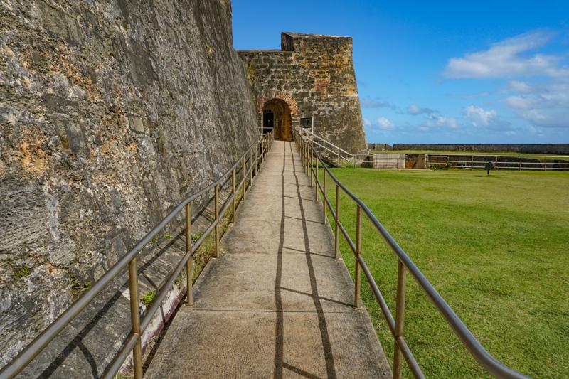 Terrace Castillo San Cristobal San Juan Puerto Rico