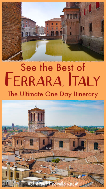 From the medieval Castello Estense to Renaissance palazzos and a charming Jewish Ghetto, discover the best of Ferrara, Italy, on a one day trip!