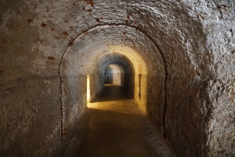 Tunnel in Castillo San Cristobal Old San Juan PR
