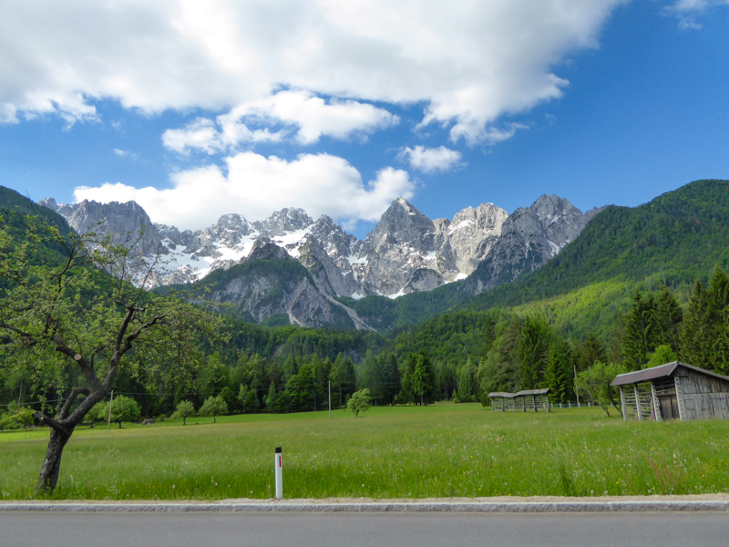 View beside the road at Kranjska Gora Slovenia