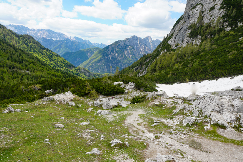 Views from Vrsic Pass in Slovenia