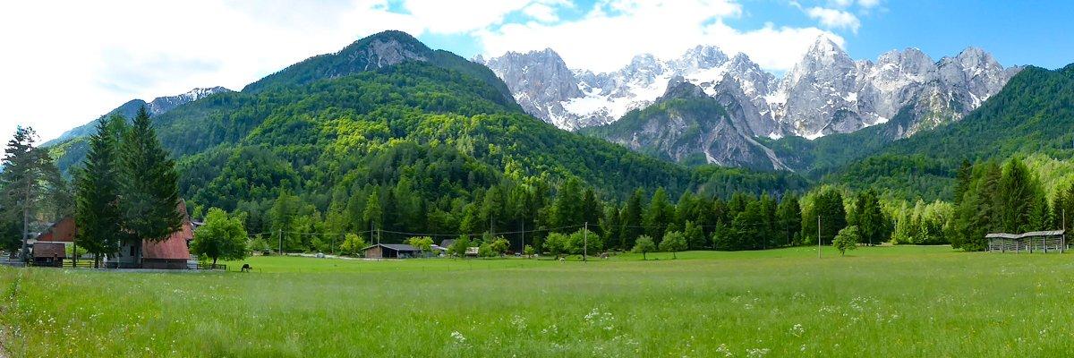 Driving Vrsic Pass Slovenia