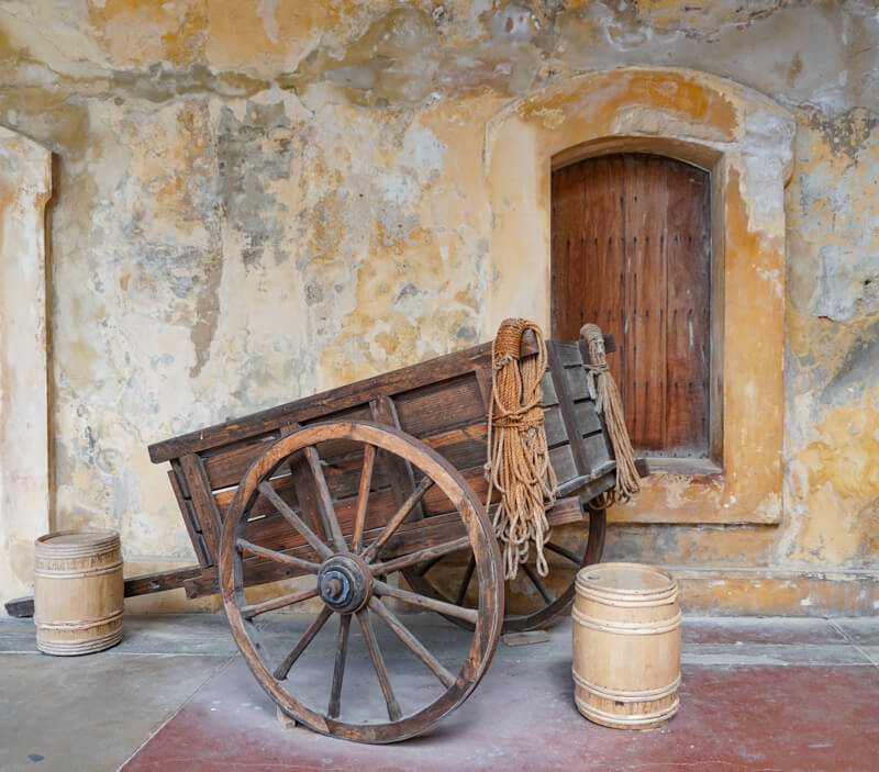 Wagon at Castillo San Cristobal in San Juan PR