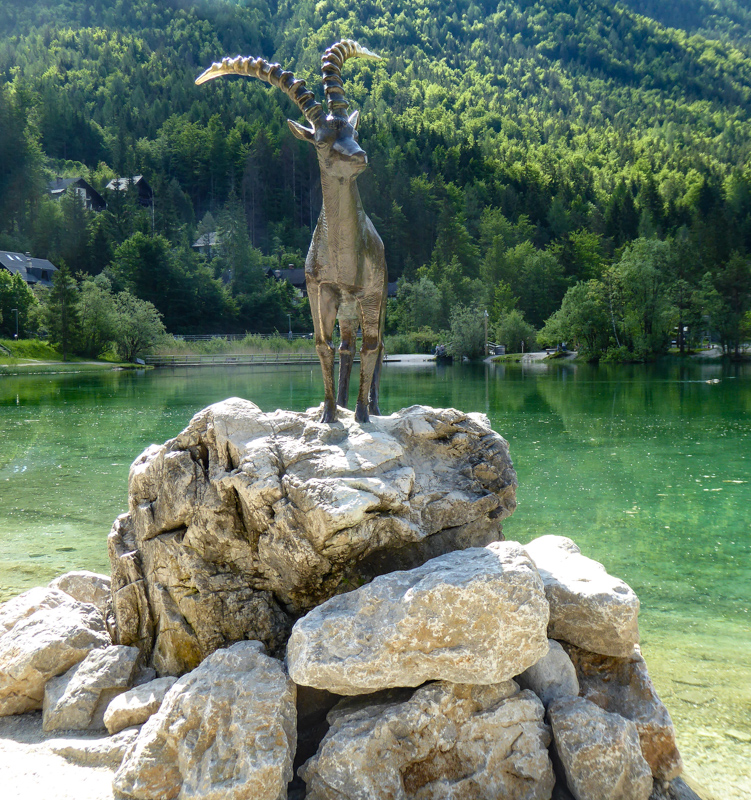 Zlatorog Statue Lake Jasna Slovenia