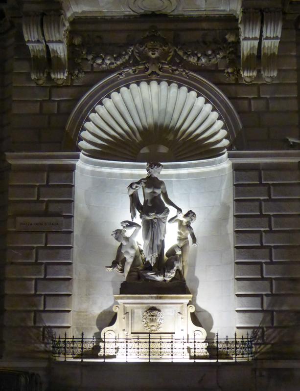 A sculpture in the Piazza Unita d'Italia Trieste