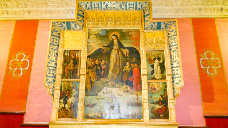 Virgin of the Navigators Altarpiece at House of Trade Alcazar of Seville Seville Spain