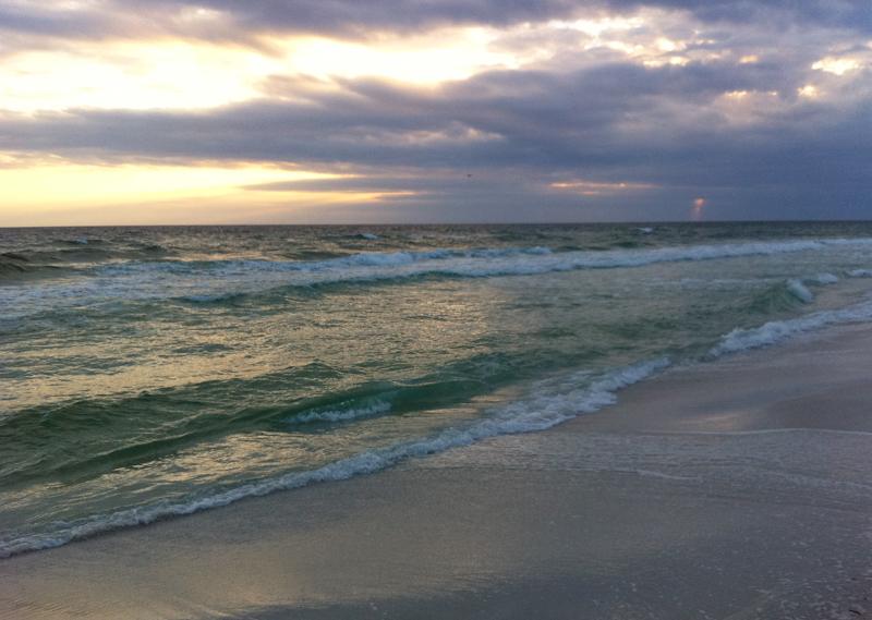 Destin beach at twilight