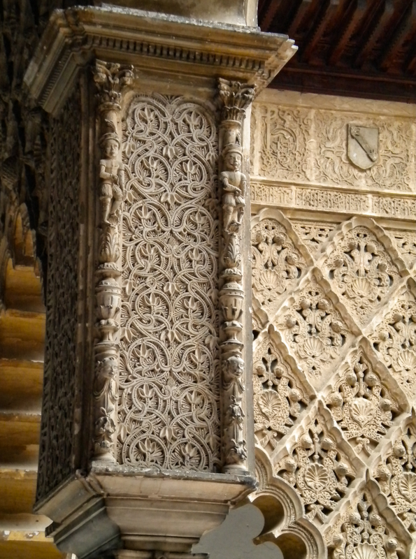 Detail of Mudejar architecture Alcazar of Seville