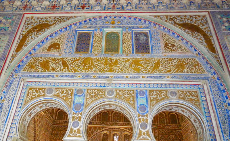 The ornate palalce of Don Pedro at the Seville Alcazar