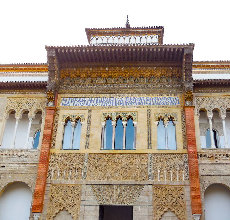Entrance to the Alcazar of Seville Palaces