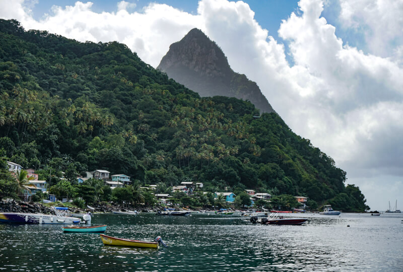 Gros Piton Saint Lucia Caribbean