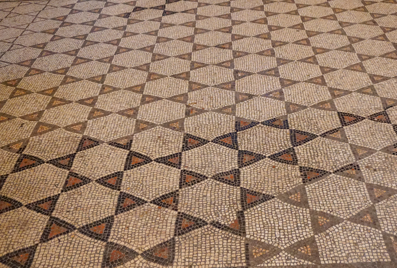 Mosaic floor Trieste Cathedral Italy