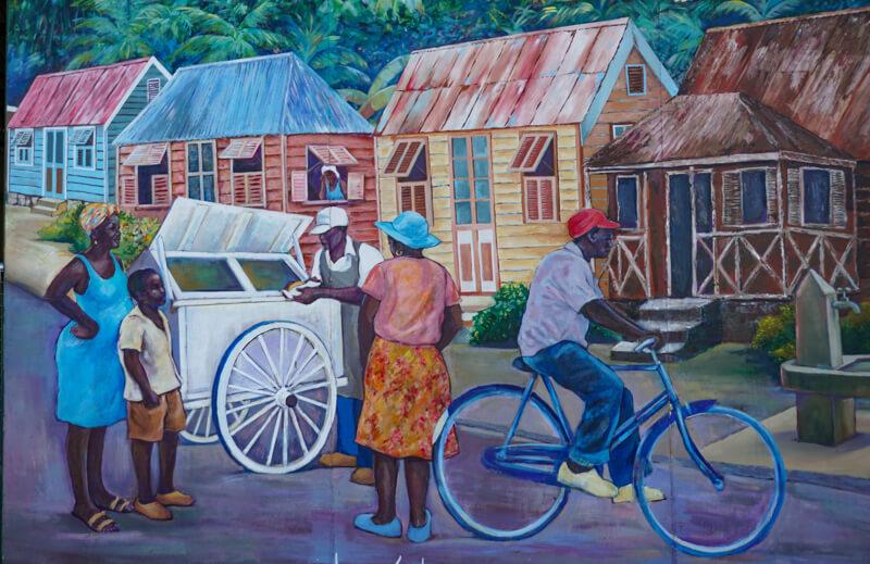 Mural at Pier in Bridgetown Barbados