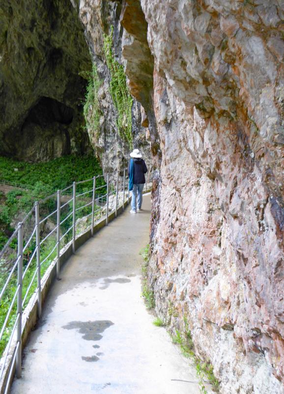 Outside the Skocjan Caves Slovenia