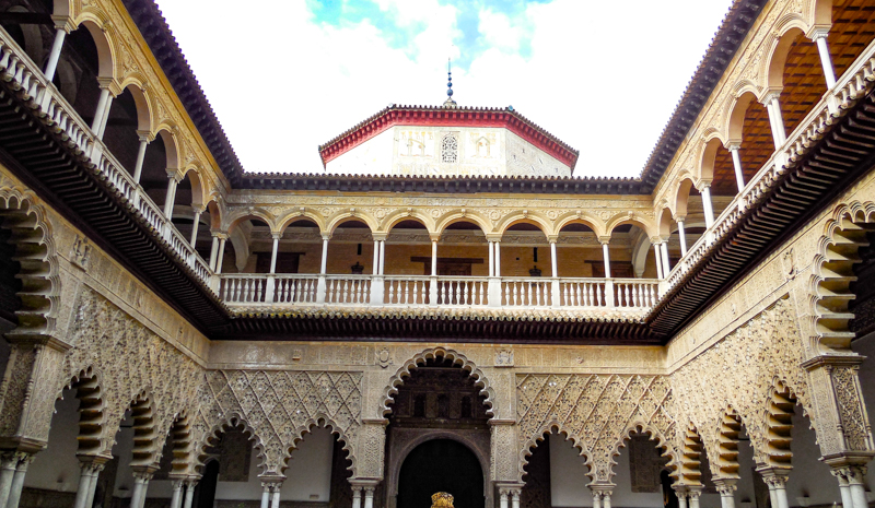 The Royal Alcazar of Seville in Spain