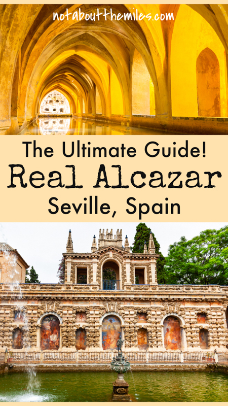 Discover the ultimate visitors' guide to the Real Alcazar of Seville, Spain! The Royal Palace complex features stunning architecture and gorgeous gardens and is one of Seville's top tourist attractions!