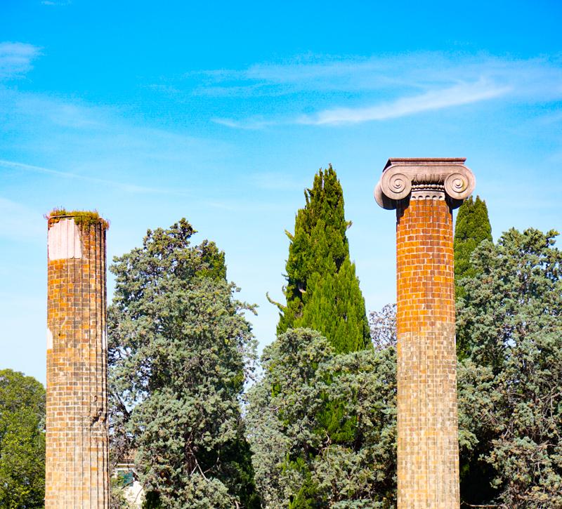 Roman Columns in Trieste Italy