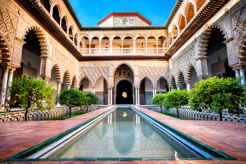 Royal Alcazar of Seville in Andalusia Spain