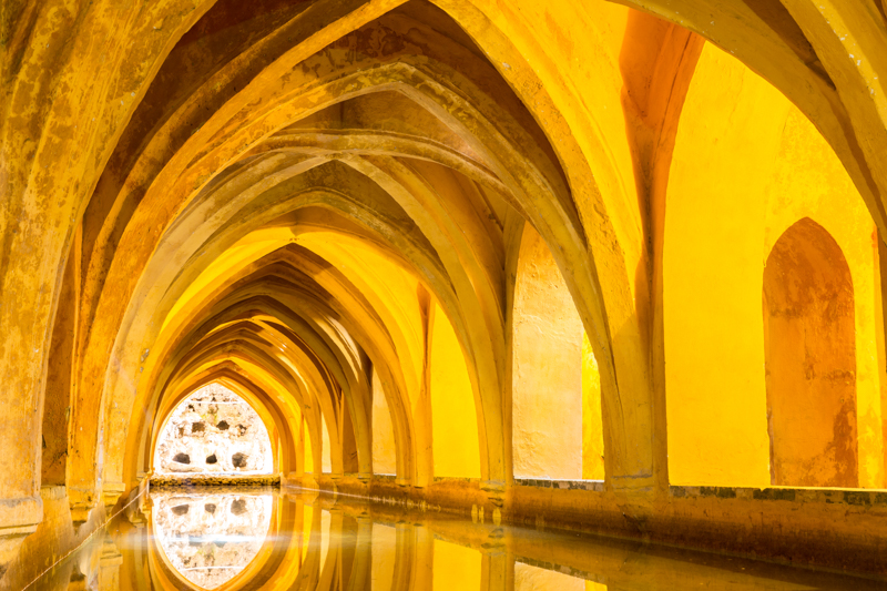 The Baths at the Royal Alcazar of Seville