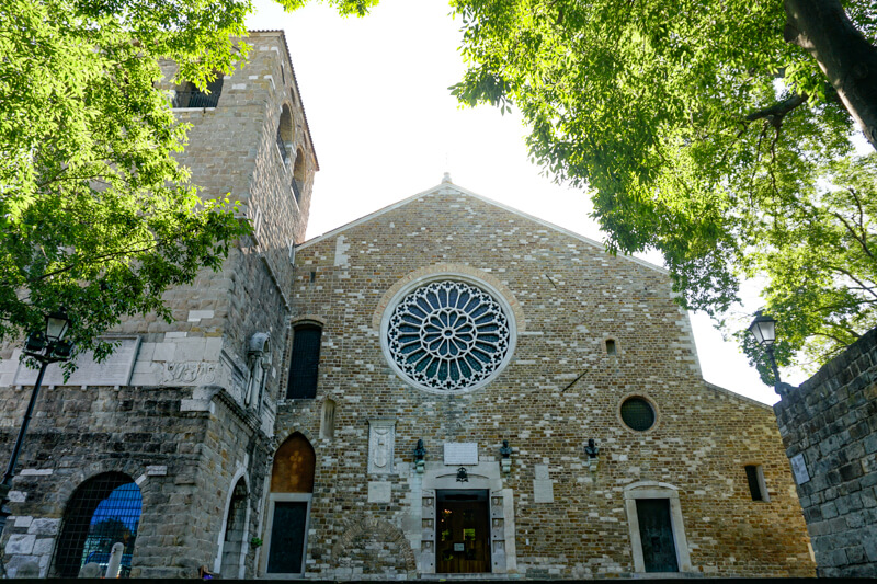 The Cathedral in Trieste Italy