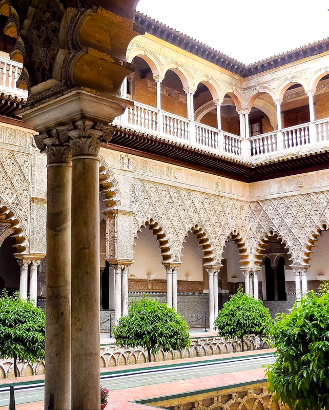 The Courtyard of the Maidens Alcazar of Seville Seville Spain