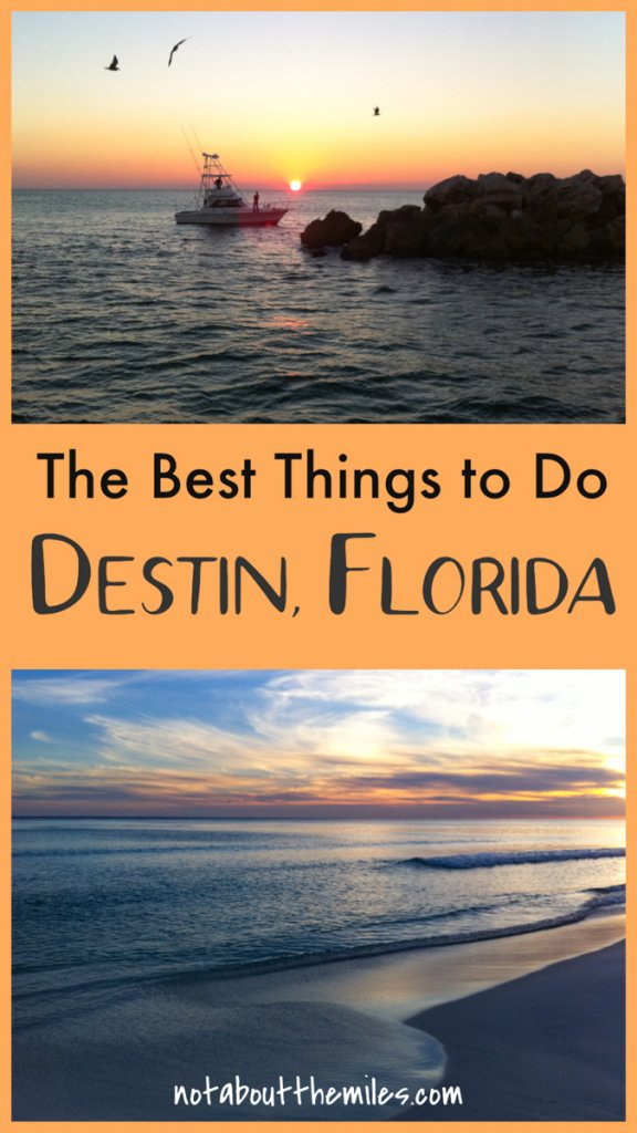 Discover the bdest things to do in Destin, Florida! From beach time to water sports and shopping to fishing, you will find lots to do at this Emerald Coast vacation spot!