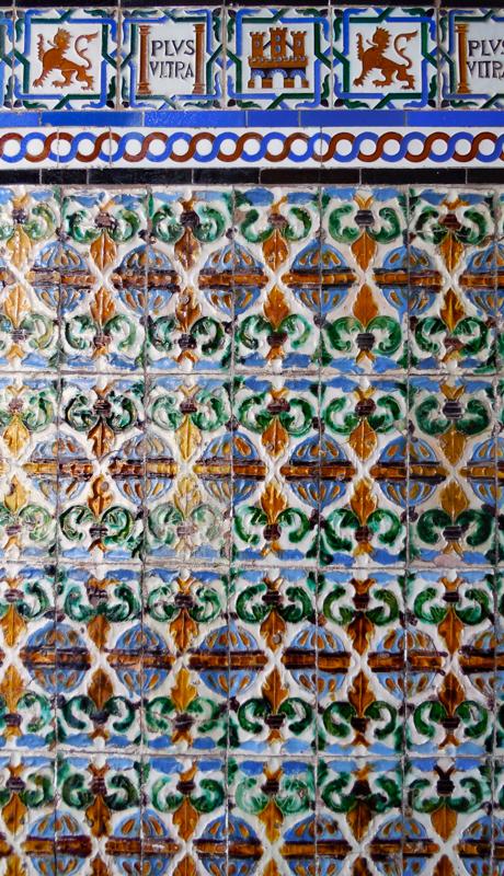 Tile work at the Royal Alcazar of Seville
