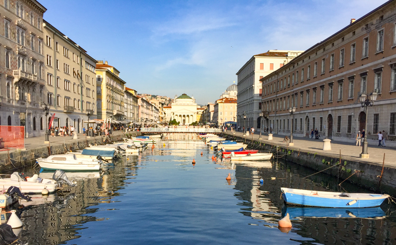 Trieste's Grand Canal by Day