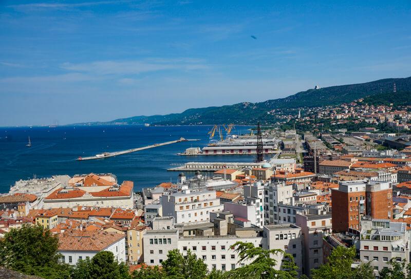 View from Castello San Giusto Trieste Italy