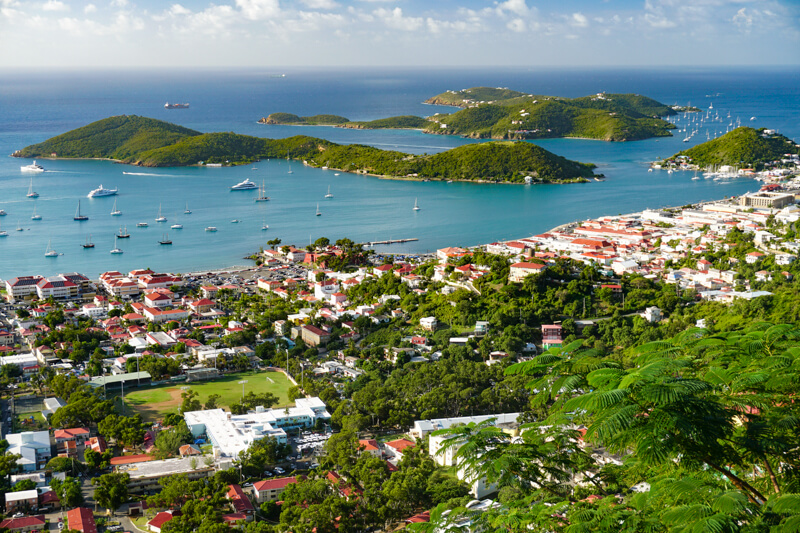 View from Paradise Point Saint Thomas USVI
