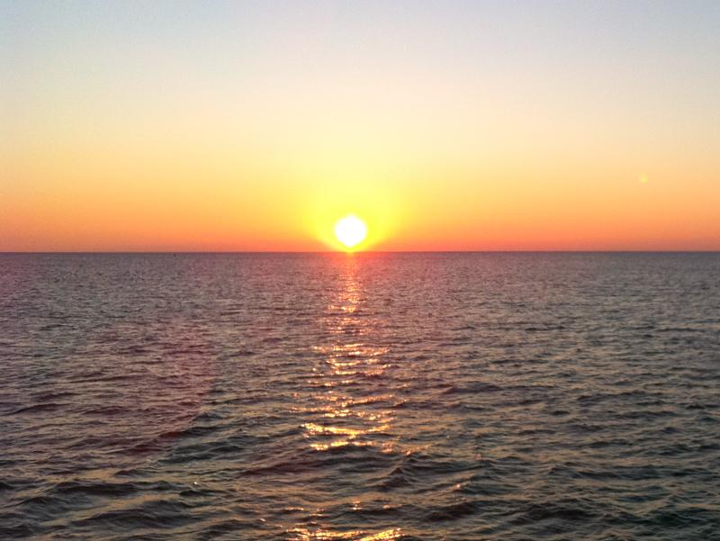 Watching the sun set in Destin Florida