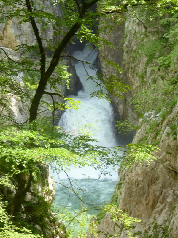 Waterfall outside Skocjan Caves Slovenia