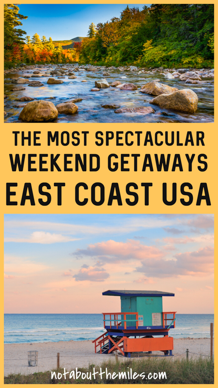 Discover the most irresistible weekend getaway destinations on the East Coast of the USA! From Boston to Miami and the White Mountains to Key West, discover the best vacation spots on the east coast.