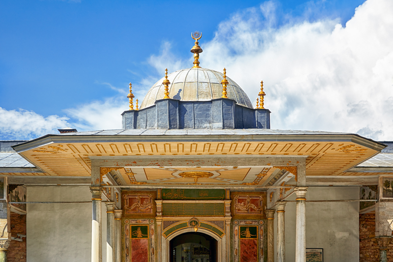 The dome of Gate of Felicity, Topkapi Palace, Istanbul