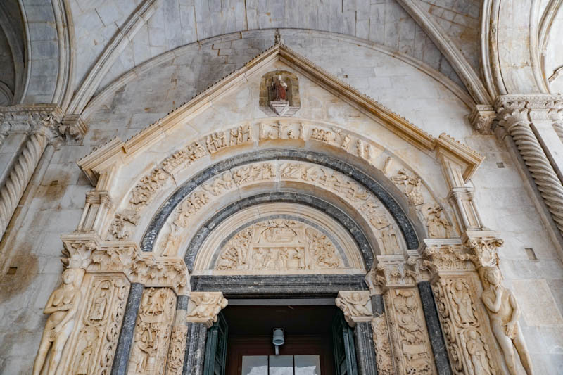 Entrance Trogir Cathedral