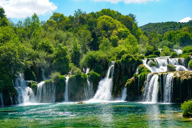 Skradinski buk waterfalls at Krka NP