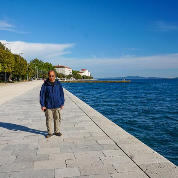 Strolling the Riva in Zadar