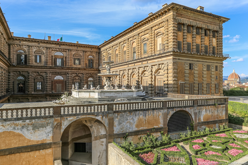 The Pitti Palace in Florence Italy