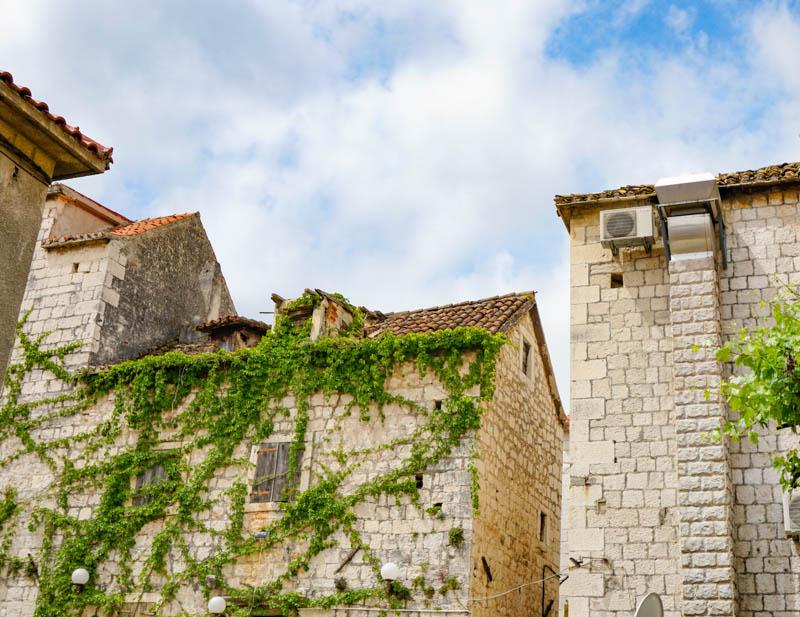 Old stone walls in Trogir Croatia