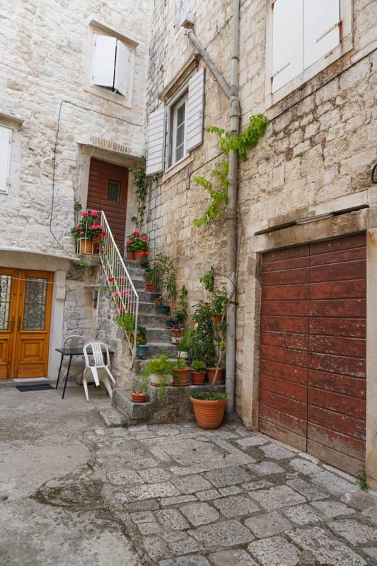 Street corner in Trogir Croatia