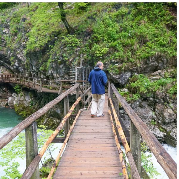 Walking boardwalk at Vintgar Gorge