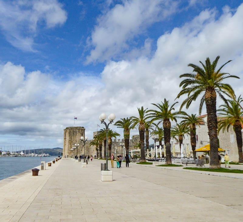 Waterfront promenade in Trogir Croatia